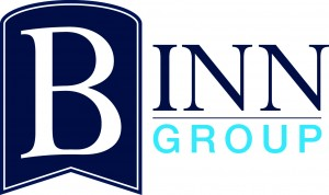 Photo of the logo of Binn Group, one of the main sponsors of Perth Highland Games