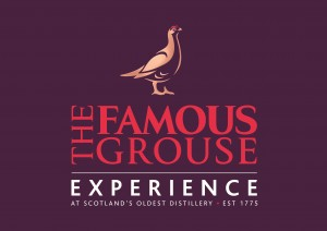 Photo of the logo of Famous Grouse Experience, one of the main sponsors of Perth Highland Games