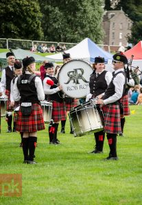 Photo of pipe band at Perth Highland Games