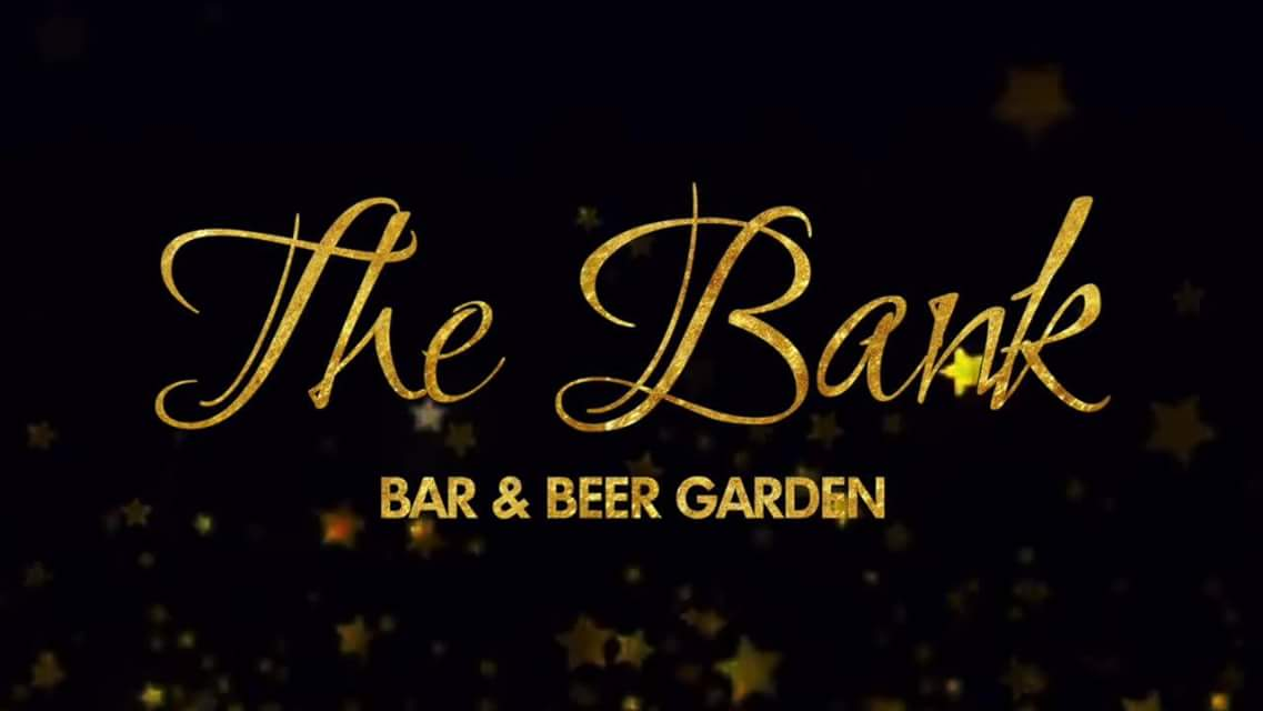 Photo of the logo of The Bank Bar & Beer Garden, one of the main sponsors of Perth Highland Games 2018